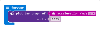 MakeCode Example Acceleration