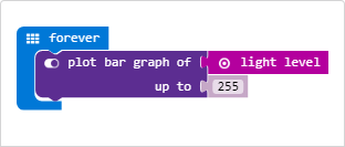 MakeCode Example Light Level