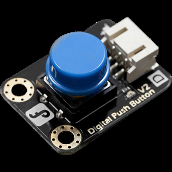 Digital Push Button DFROBOT Gravity Blue